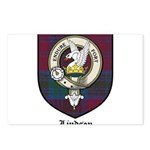 Lindsey Clan Crest Tartan Postcards (Package of 8)