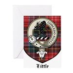 Little Clan Crest Tartan Greeting Cards (Pk of 20)