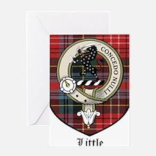 Little Clan Crest Tartan Greeting Card