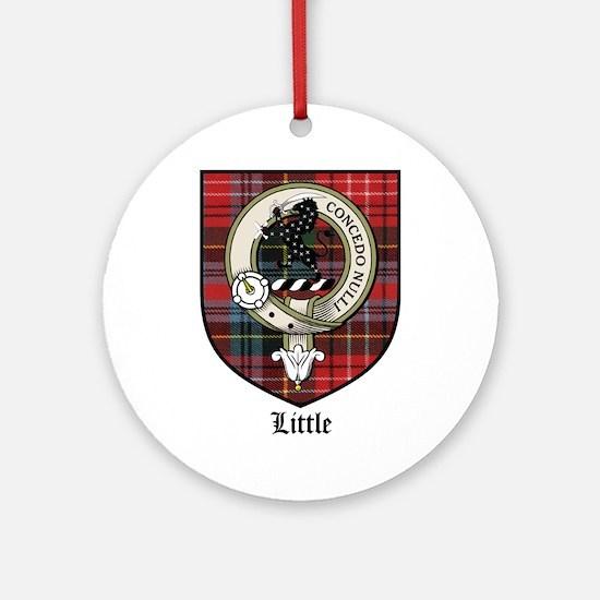 Little Clan Crest Tartan Ornament (Round)
