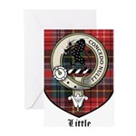 Little Clan Crest Tartan Greeting Cards (Pk of 10)