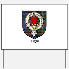 Logan Clan Crest Tartan Yard Sign