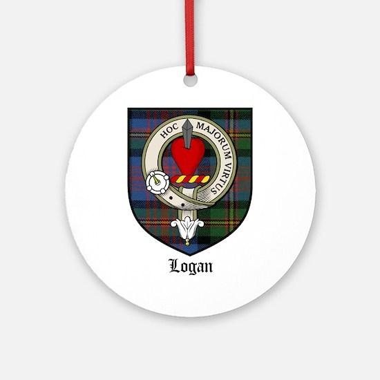 Logan Clan Crest Tartan Ornament (Round)