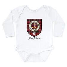MacAlister Clan Crest Tartan Long Sleeve Infant Bo