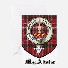 MacAlister Clan Crest Tartan Greeting Card