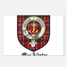 MacAlister Clan Crest Tartan Postcards (Package of
