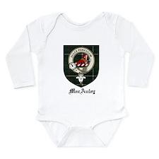 MacAuley Clan Crest Tartan Long Sleeve Infant Body