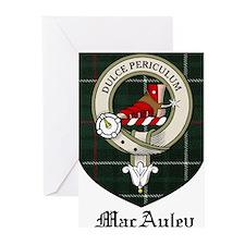 MacAuley Clan Crest Tartan Greeting Cards (Pk of 2