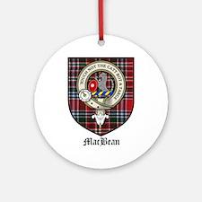 MacBean Clan Crest Tartan Ornament (Round)