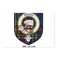 Macbeth Clan Crest Tartan Postcards (Package of 8)