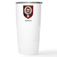 MacDonald Clan Crest Tartan Travel Mug
