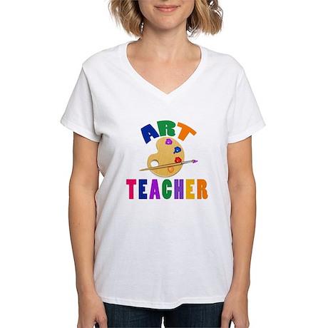 Art Teacher Women's V-Neck T-Shirt