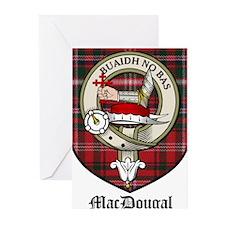 MacDougal Clan Crest Tartan Greeting Cards (Pk of