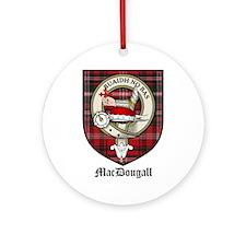 MacDougall Clan Crest Tartan Ornament (Round)