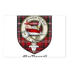 MacDougall Clan Crest Tartan Postcards (Package of