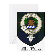 MacEwan Clan Crest Tartan Greeting Card