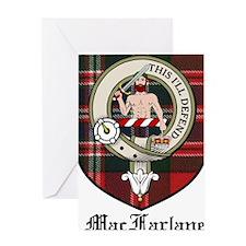 MacFarlane Clan Crest Tartan Greeting Card