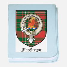 MacGregor Clan Crest Tartan baby blanket