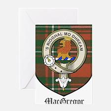 MacGregor Clan Crest Tartan Greeting Card