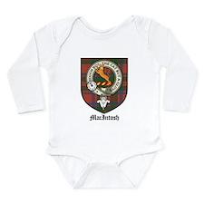 MacIntosh Clan Crest Tartan Long Sleeve Infant Bod