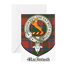 MacIntosh Clan Crest Tartan Greeting Cards (Pk of