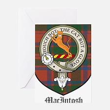 MacIntosh Clan Crest Tartan Greeting Card