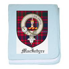 MacIntyre Clan Crest Tartan baby blanket