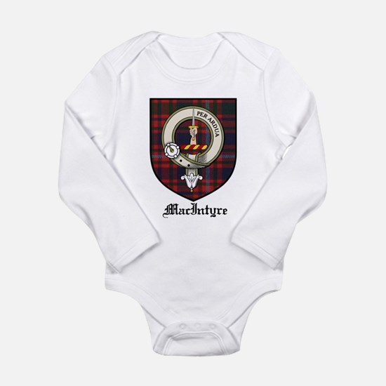 MacIntyre Clan Crest Tartan Long Sleeve Infant Bod