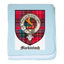 Mackintosh Clan Crest Tartan baby blanket