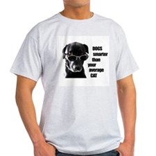 Dogs Smarter Ash Grey T-Shirt
