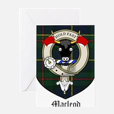 Macleod Clan Crest Tartan Greeting Card