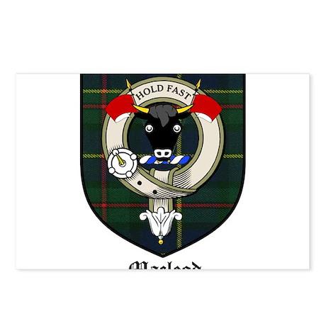 Macleod Clan Crest Tartan Postcards (Package of 8)