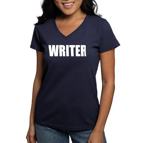 """Castle """"WRITER"""" Women's V-Neck Dark T-Shirt"""