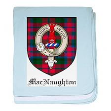 MacNaughton Clan Crest Tartan baby blanket