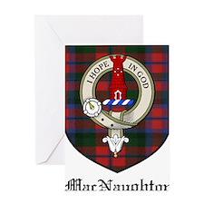 MacNaughton Clan Crest Tartan Greeting Card