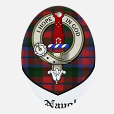 MacNaughton Clan Crest Tartan Ornament (Oval)