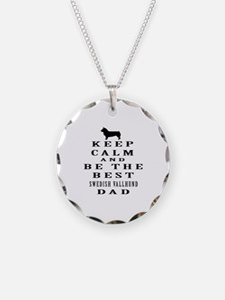 Swedish Vallhund Dad Designs Necklace