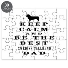 Swedish Vallhund Dad Designs Puzzle