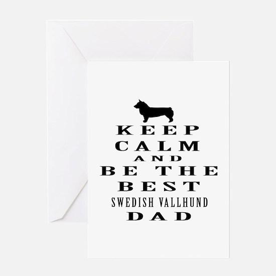 Swedish Vallhund Dad Designs Greeting Card