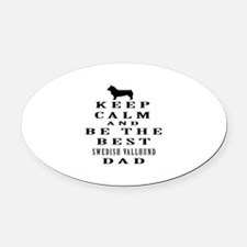 Swedish Vallhund Dad Designs Oval Car Magnet