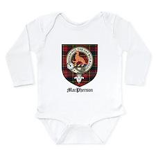 MacPherson Clan Crest Tartan Long Sleeve Infant Bo