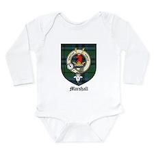 Marshall Clan Crest Tartan Long Sleeve Infant Body
