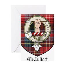 McCulloch Clan Crest Tartan Greeting Card