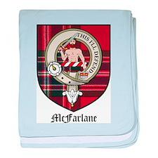 McFarlane Clan Crest Tartan baby blanket