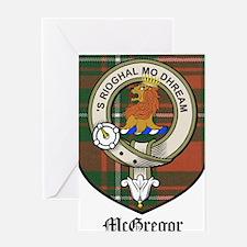 McGregor Clan Crest Tartan Greeting Card