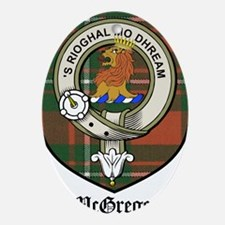 McGregor Clan Crest Tartan Ornament (Oval)