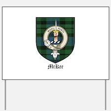 McKee Clan Crest Tartan Yard Sign