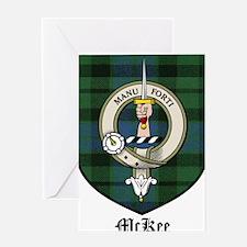 McKee Clan Crest Tartan Greeting Card