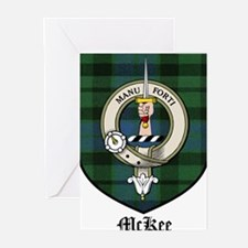 McKee Clan Crest Tartan Greeting Cards (Pk of 10)