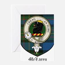 McLaren Clan Crest Tartan Greeting Card